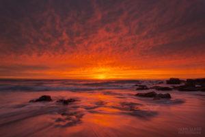 Sky of fire sunrise seascape